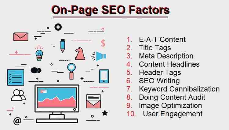 What is on-page SEO and off page SEO?